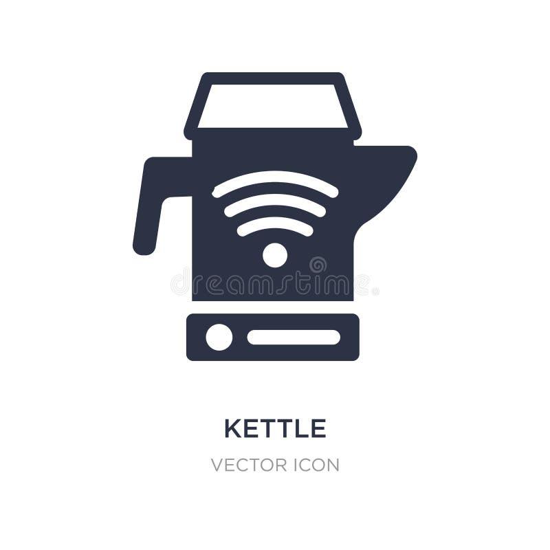 Icône de bouilloire sur le fond blanc Illustration simple d'élément du futur concept de technologie illustration stock
