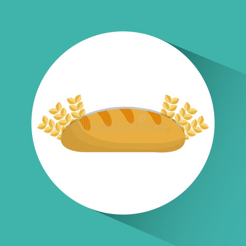 Icône de boulangerie d'oreilles de froment panifiable Dessin de vecteur illustration libre de droits