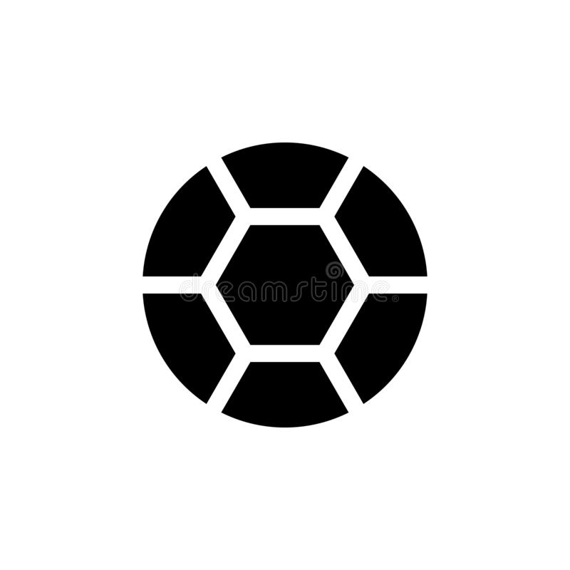 Icône de boule du football Des signes et les symboles peuvent être employés pour le Web, logo, l'appli mobile, UI, UX illustration libre de droits