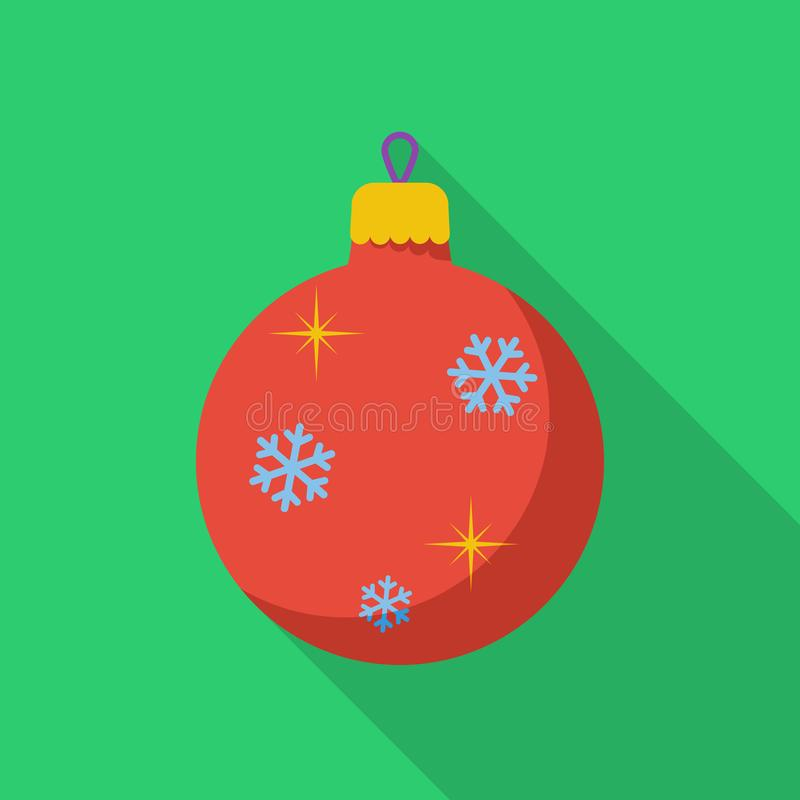 Icône de boule de Noël illustration stock