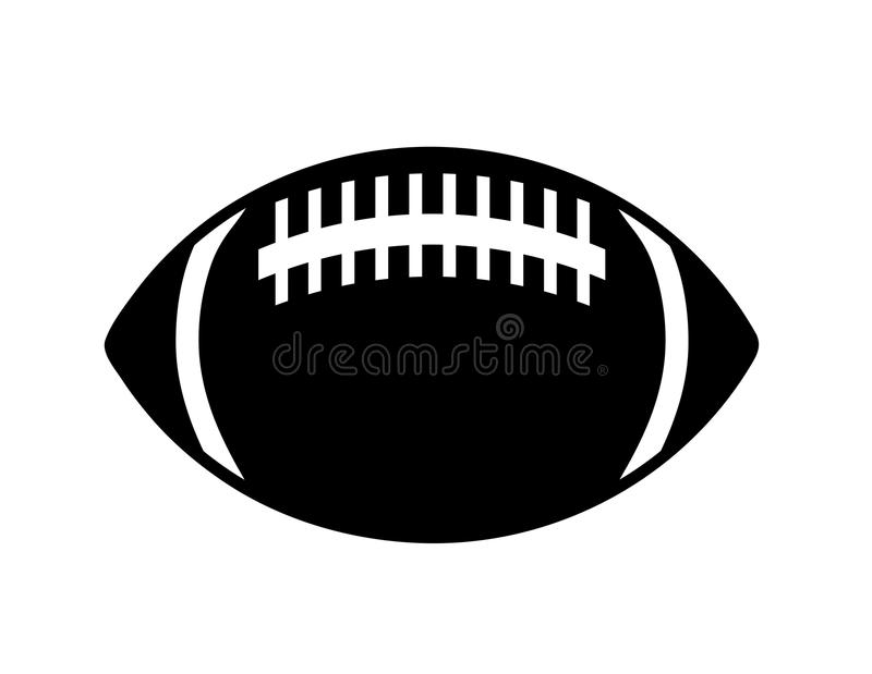 Icône de boule de rugby dans le style simple sur une défectuosité blanche de vecteur de fond illustration de vecteur