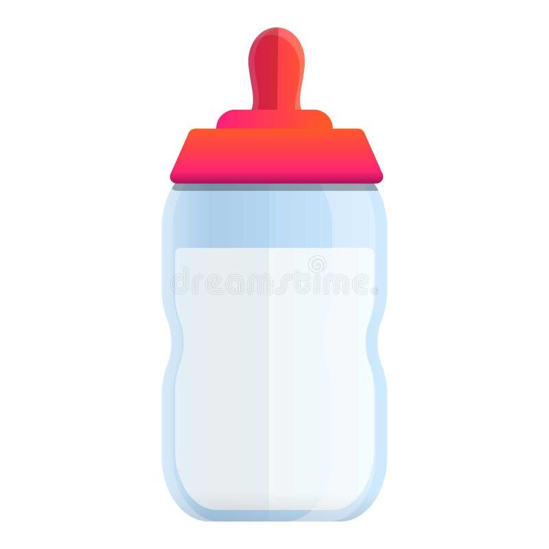 Icône de bouteille à lait de bébé, style de bande dessinée illustration stock