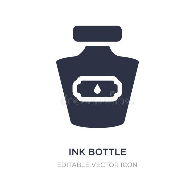 icône de bouteille d'encre sur le fond blanc Illustration simple d'élément de concept de communications illustration de vecteur