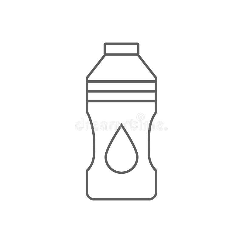 Icône de bouteille d'huile Élément d'huile pour le concept et l'icône mobiles d'applis de Web Contour, ligne mince icône pour la  illustration libre de droits