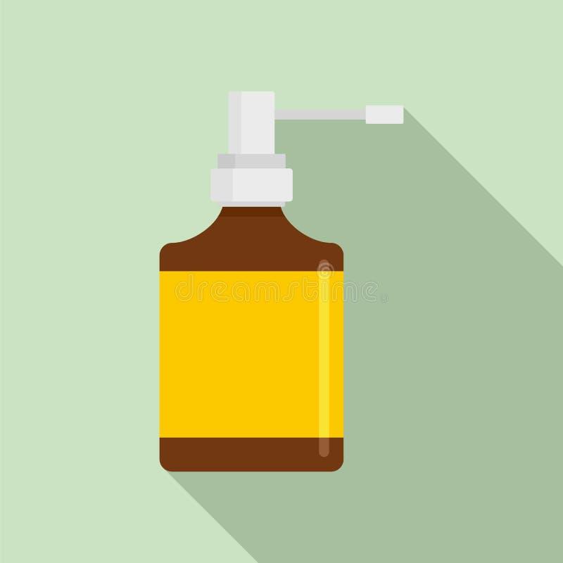 Icône de bouteille de jet de respiration, style plat illustration stock
