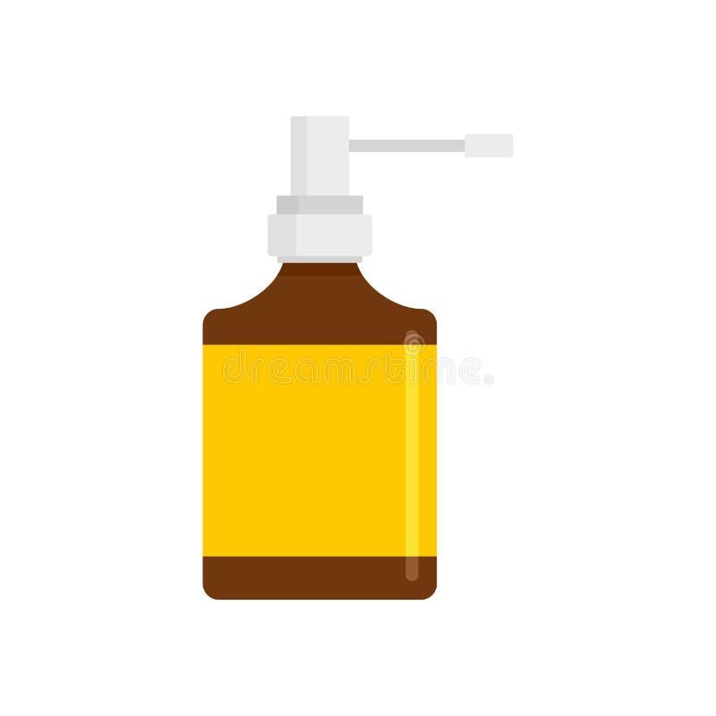 Icône de bouteille de jet de respiration, style plat illustration libre de droits