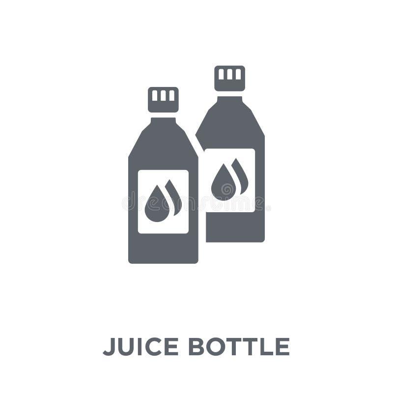 Icône de bouteille de jus de collection de boissons illustration de vecteur