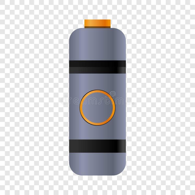 Icône de bouteille de thermos de l'eau, style de bande dessinée illustration de vecteur