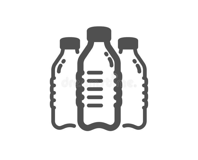 Icône de bouteilles d'eau Signe toujours d'aqua Vecteur illustration libre de droits