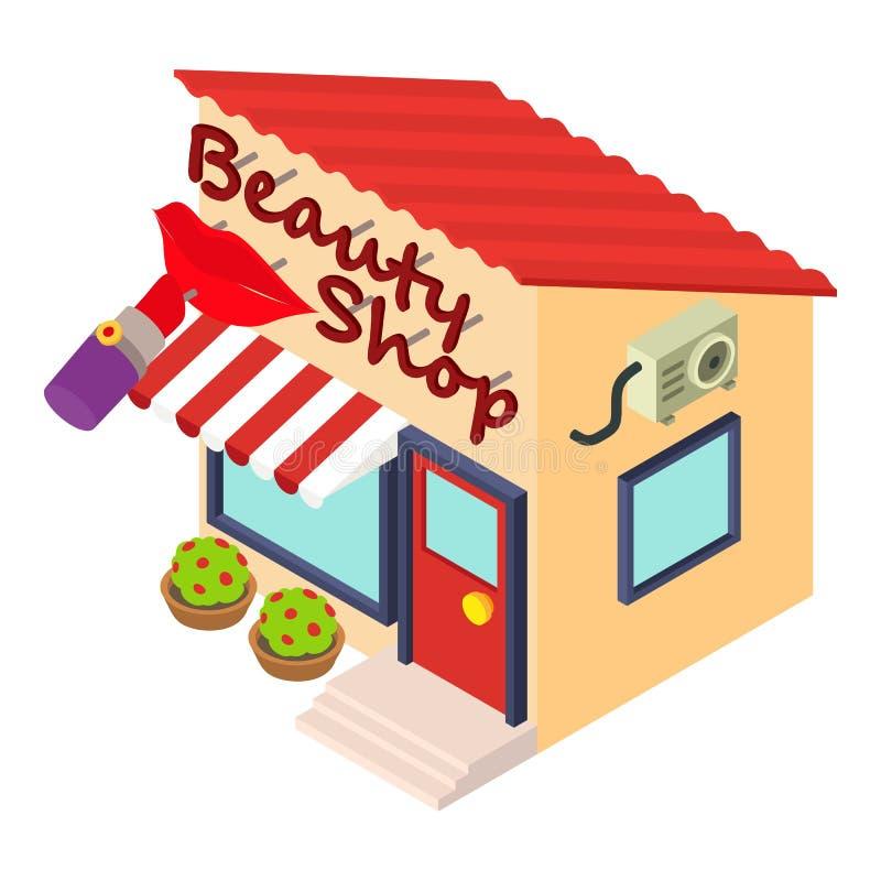 Icône de boutique de beauté, style isométrique illustration de vecteur