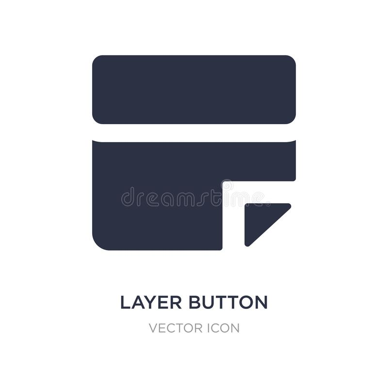 icône de bouton de couche sur le fond blanc Illustration simple d'élément de concept d'UI illustration libre de droits