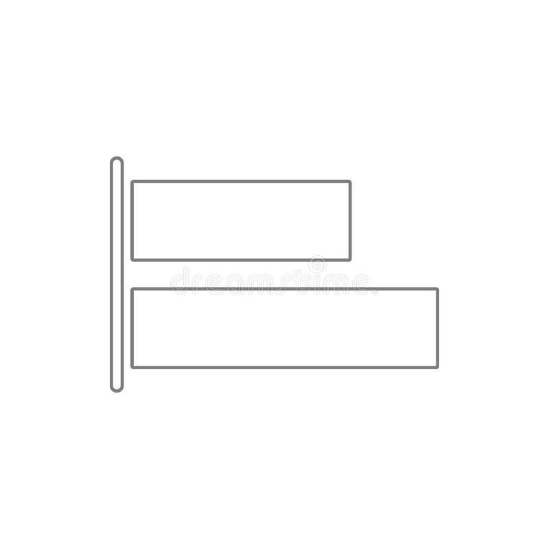 icône de bouton d'alignement Élément de sécurité de cyber pour le concept et l'icône mobiles d'applis de Web Ligne mince icône po illustration stock