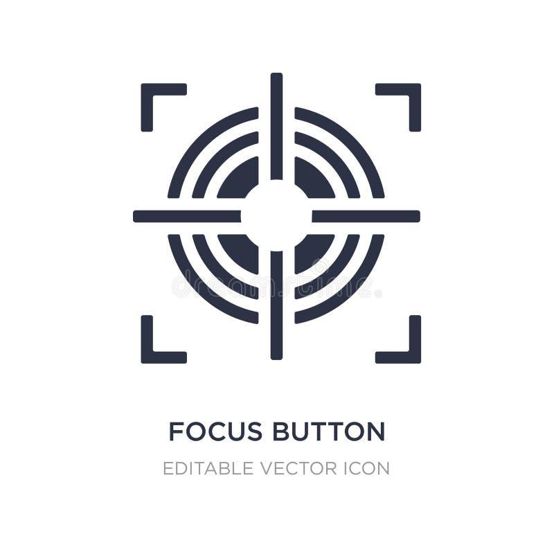 icône de bouton de foyer sur le fond blanc Illustration simple d'élément de concept de formes illustration libre de droits