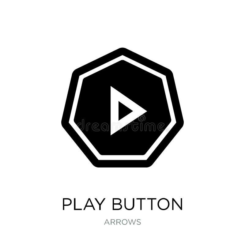 Icône de bouton de jeu dans le style à la mode de conception Icône de bouton de jeu d'isolement sur le fond blanc icône de vecteu illustration stock