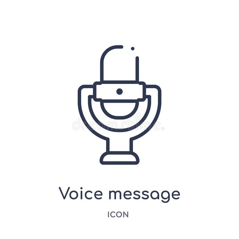icône de bouton de microphone de message de voix de collection d'ensemble d'interface utilisateurs Ligne mince icône de bouton de illustration libre de droits
