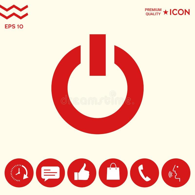 Icône de bouton de puissance illustration stock