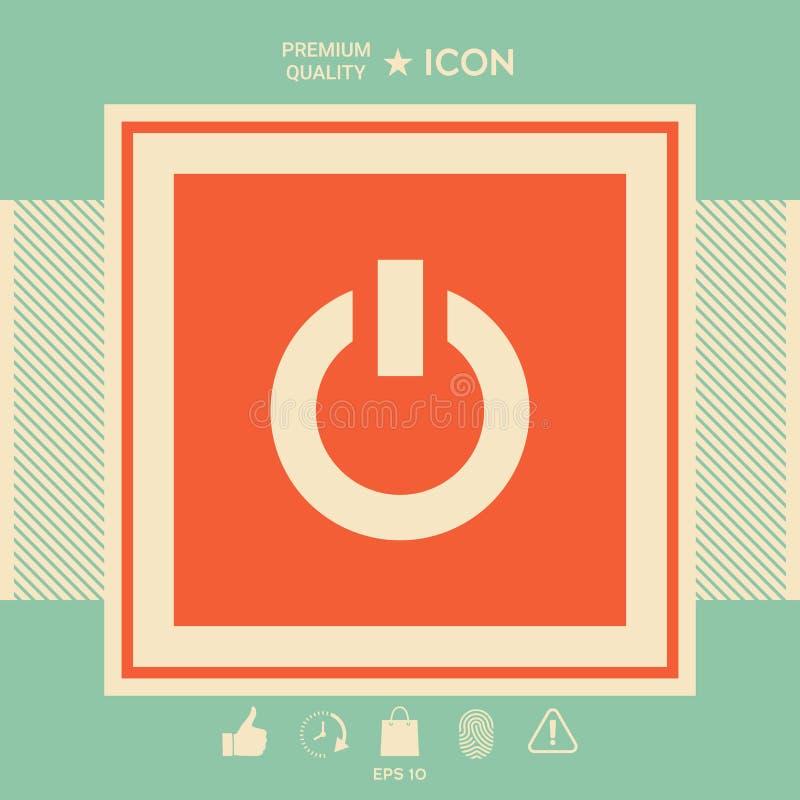 Icône de bouton de puissance illustration de vecteur