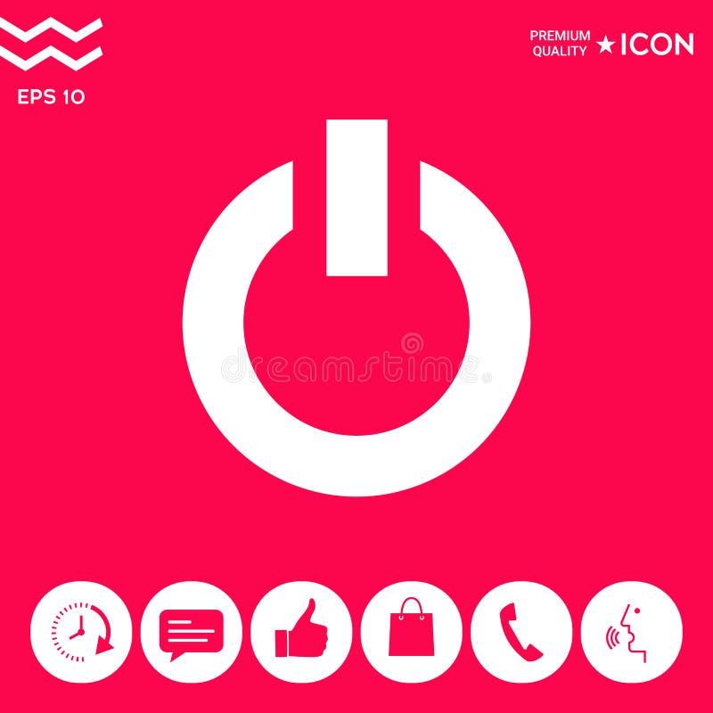 Icône de bouton de puissance illustration libre de droits