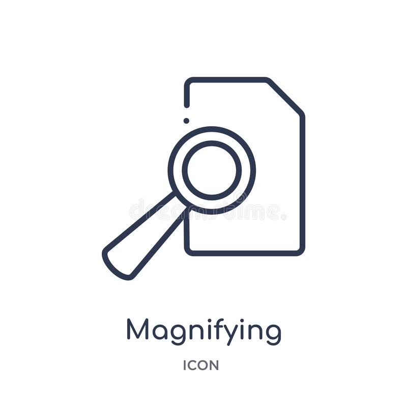 icône de bouton de recherche de loupe de collection d'ensemble d'interface utilisateurs La ligne mince icône de bouton de recherc illustration stock