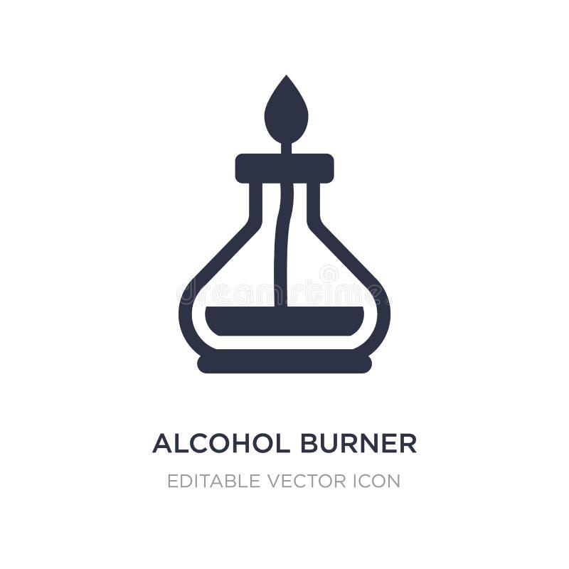 icône de brûleur à alcool sur le fond blanc Illustration simple d'élément de notion générale illustration de vecteur