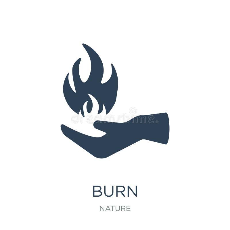 icône de brûlure dans le style à la mode de conception icône de brûlure d'isolement sur le fond blanc symbole plat simple et mode illustration stock