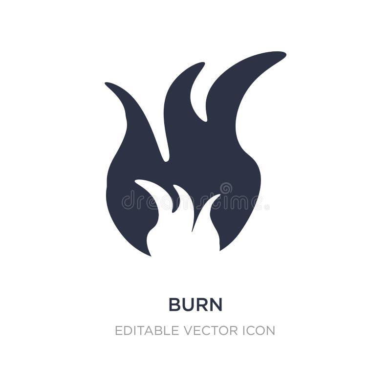 icône de brûlure sur le fond blanc Illustration simple d'élément de concept de nature illustration libre de droits