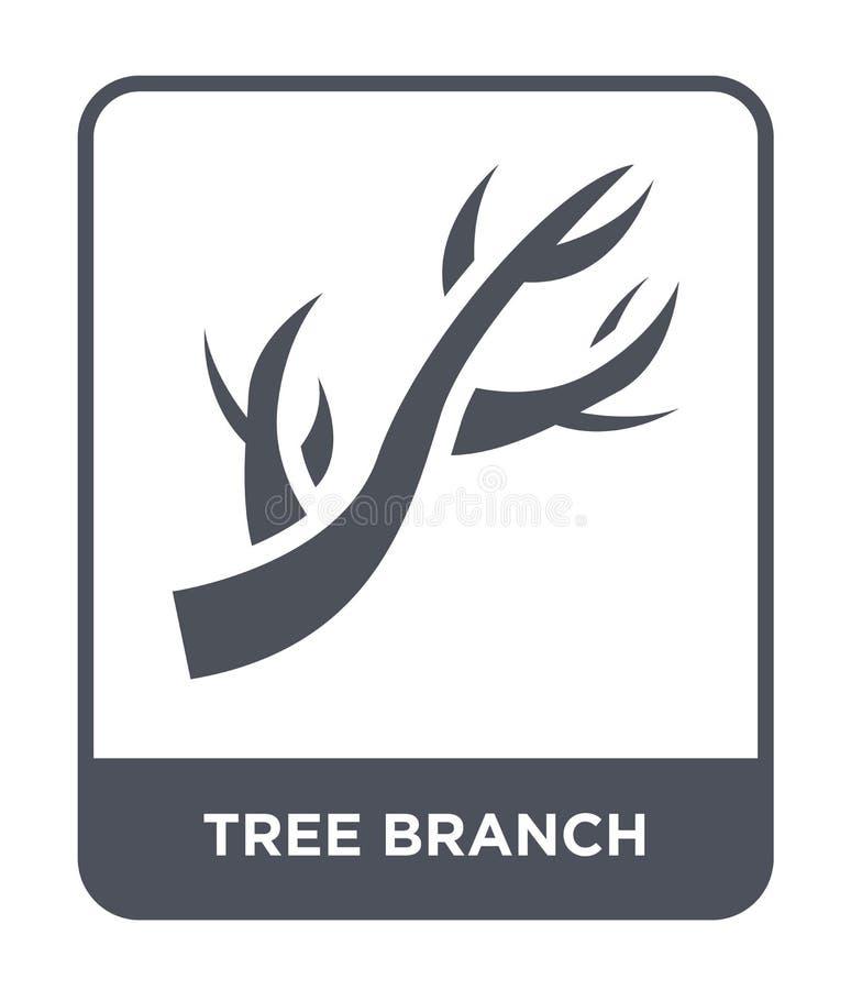 icône de branche d'arbre dans le style à la mode de conception icône de branche d'arbre d'isolement sur le fond blanc icône de ve illustration de vecteur