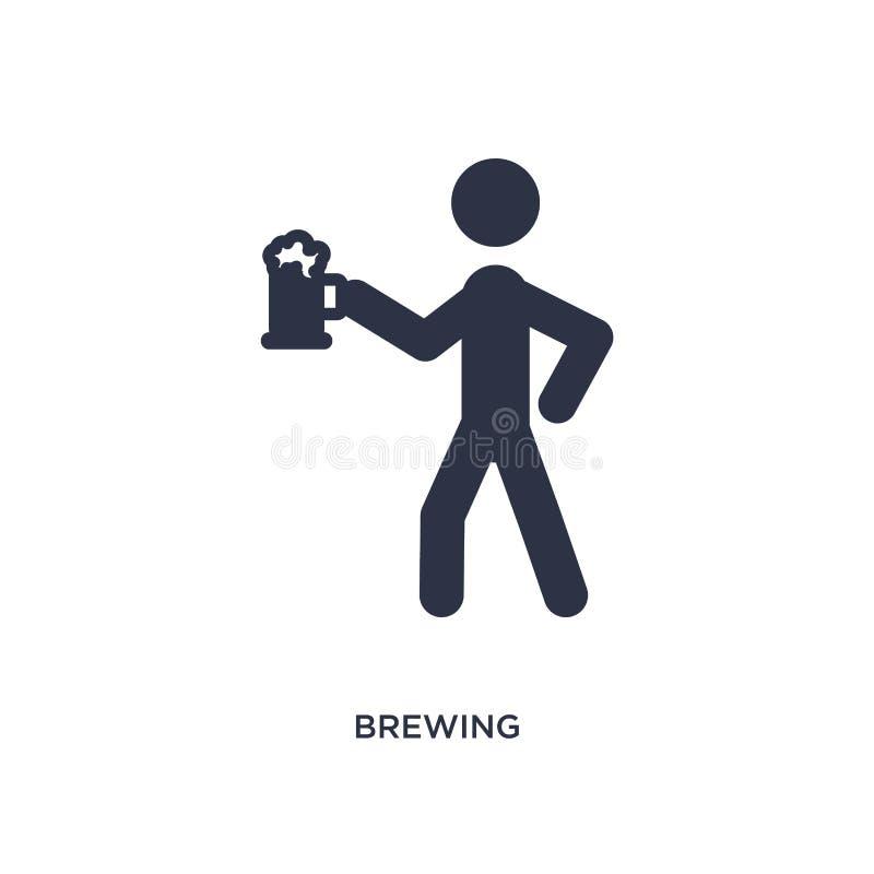 icône de brassage sur le fond blanc Illustration simple d'élément d'activité et de concept de passe-temps illustration libre de droits