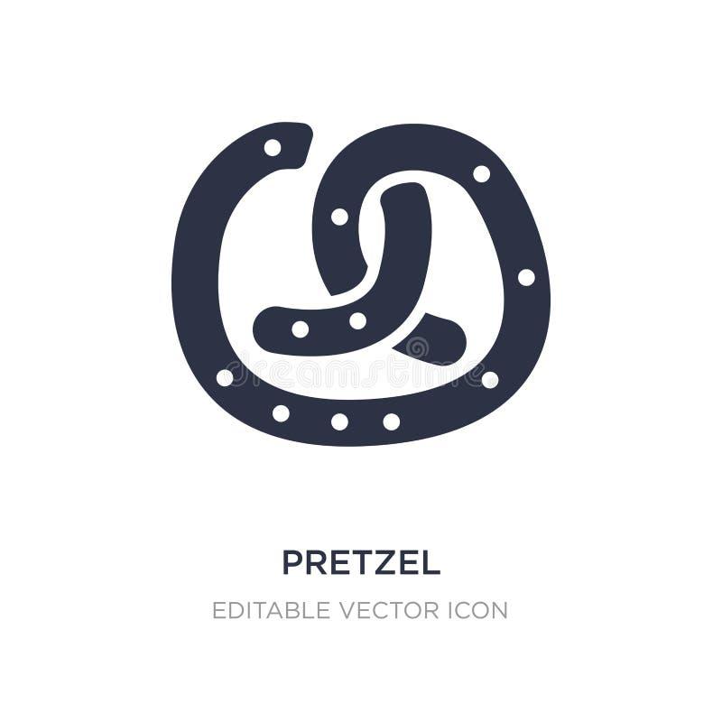 icône de bretzel sur le fond blanc Illustration simple d'élément de concept de nourriture illustration de vecteur