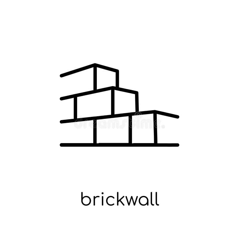 Icône de Brickwall Icône linéaire plate moderne à la mode de Brickwall de vecteur illustration stock
