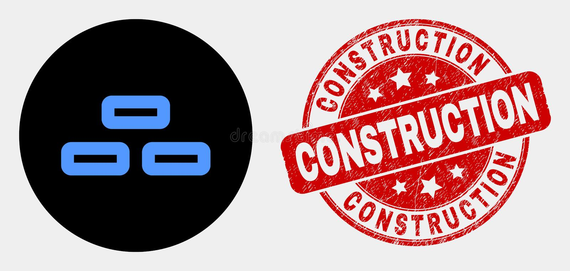 Icône de briques de vecteur et timbre de construction de détresse illustration de vecteur