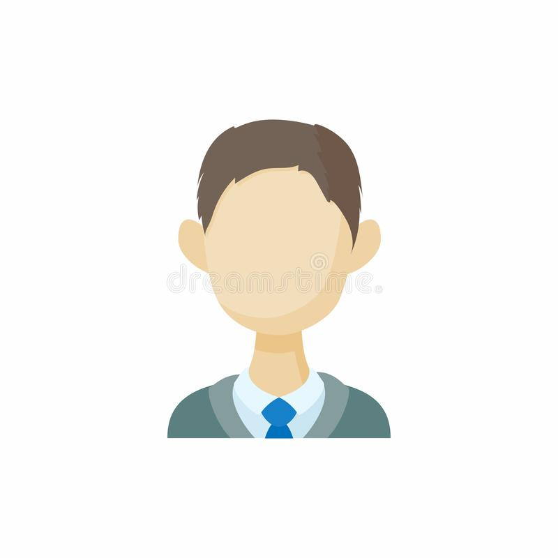 Icône de brune d'hommes d'avatar, style de bande dessinée illustration de vecteur