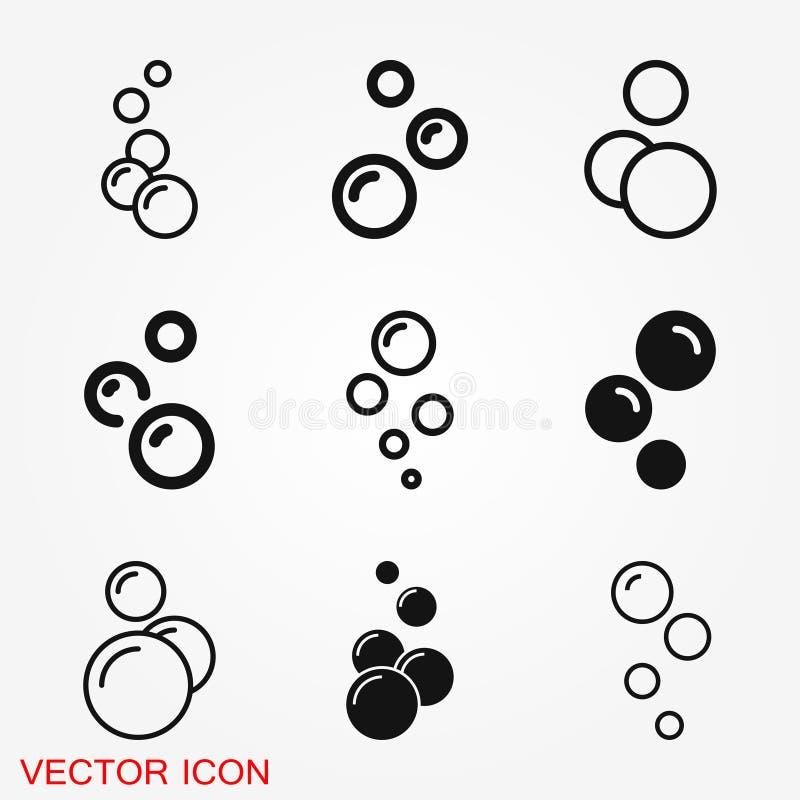 Icône de bulle d'isolement sur le fond Icône de savon ou de l'eau illustration de vecteur