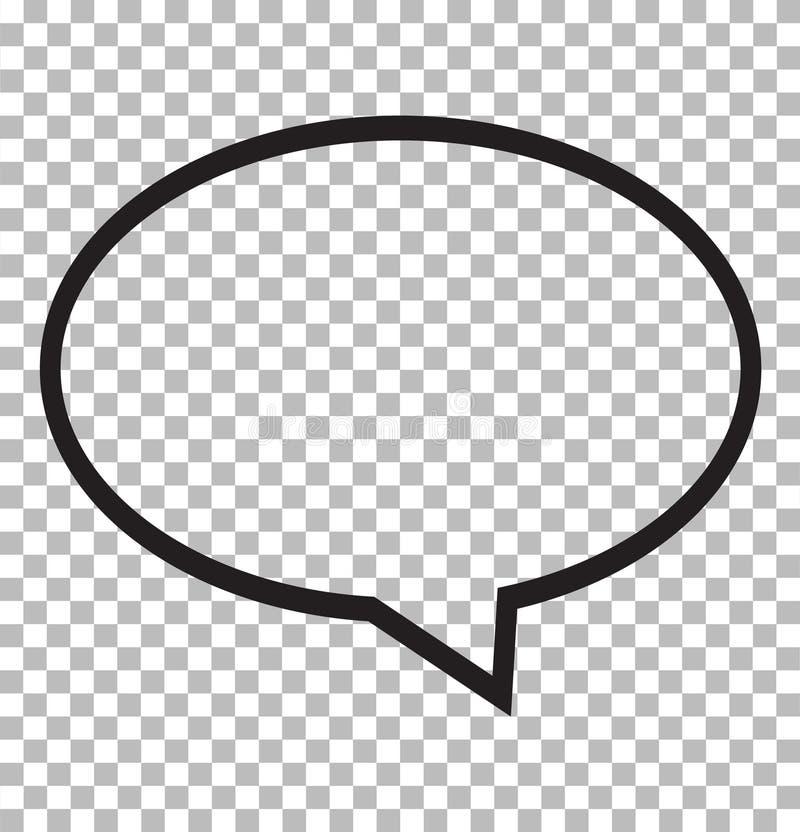 Icône de bulle de la parole d'isolement sur le fond transparent illustration libre de droits