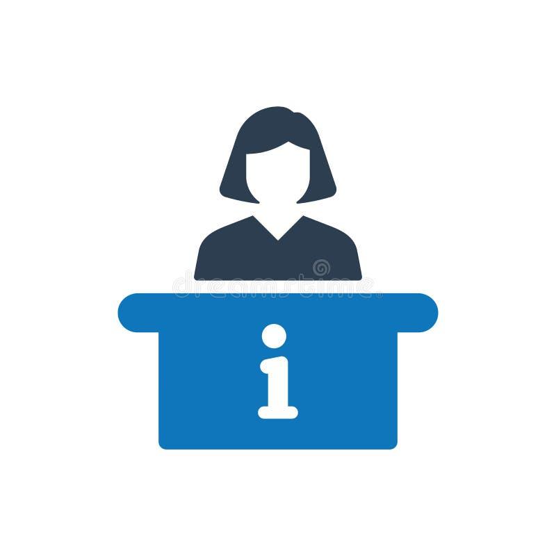 Icône de bureau de renseignements illustration libre de droits