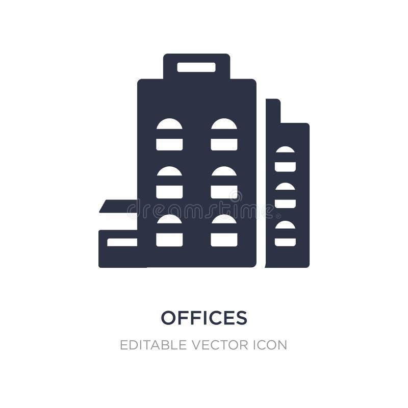 icône de bureaux sur le fond blanc Illustration simple d'élément de concept d'UI illustration de vecteur