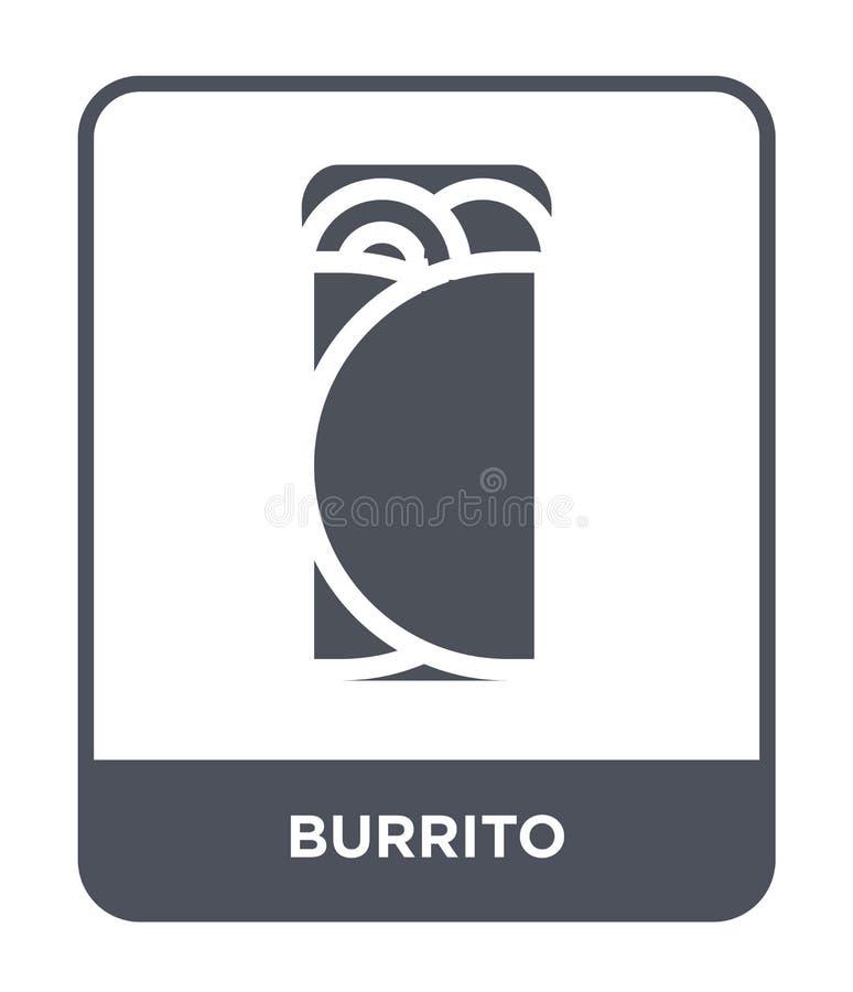 icône de burrito dans le style à la mode de conception icône de burrito d'isolement sur le fond blanc symbole plat simple et mode illustration libre de droits