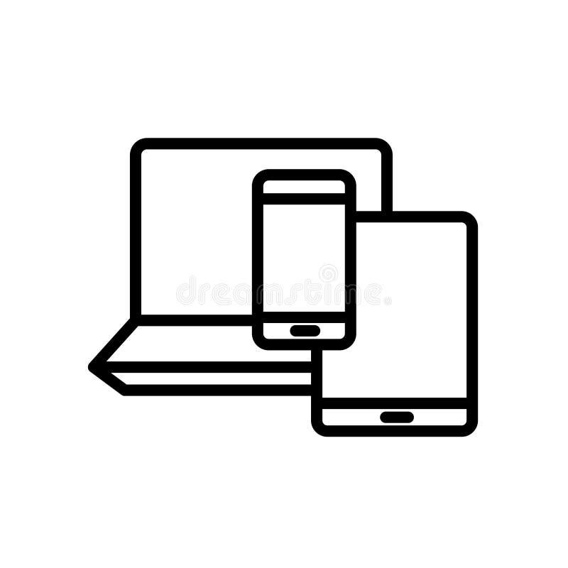 icône de byod d'isolement sur le fond blanc illustration libre de droits