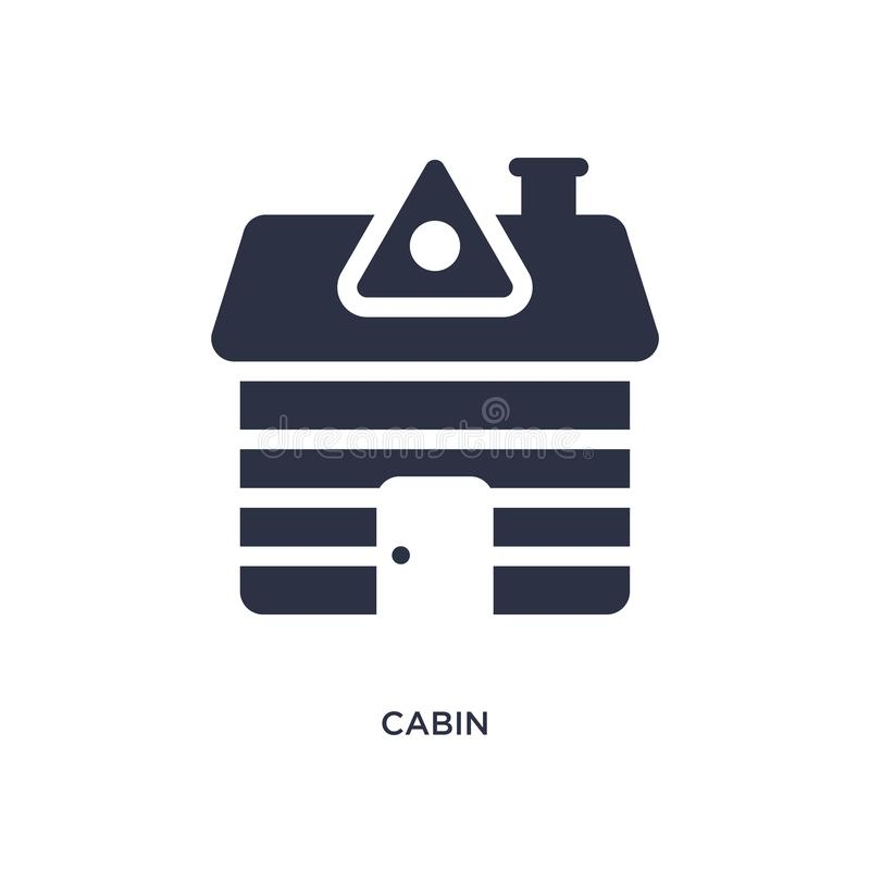 icône de cabine sur le fond blanc Illustration simple d'élément de concept campant illustration libre de droits