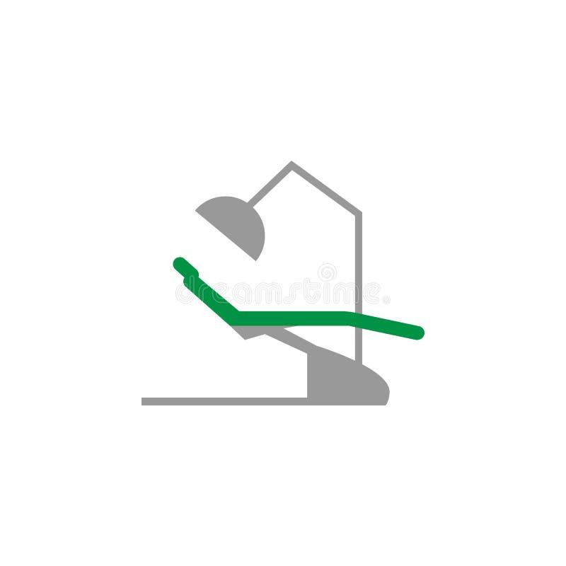 Icône de Cabinet et de chaise Élément d'icône de soins dentaires pour des applis mobiles de concept et de Web L'icône détaillée d illustration de vecteur