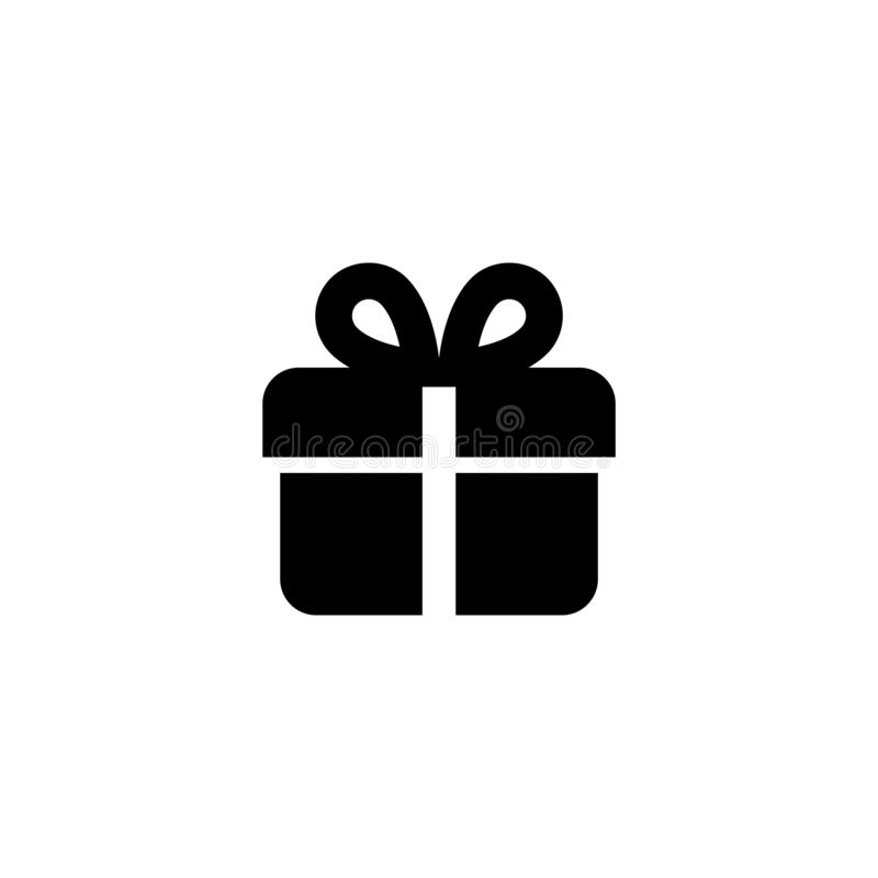 Icône de cadeau Signe d'an neuf illustration stock