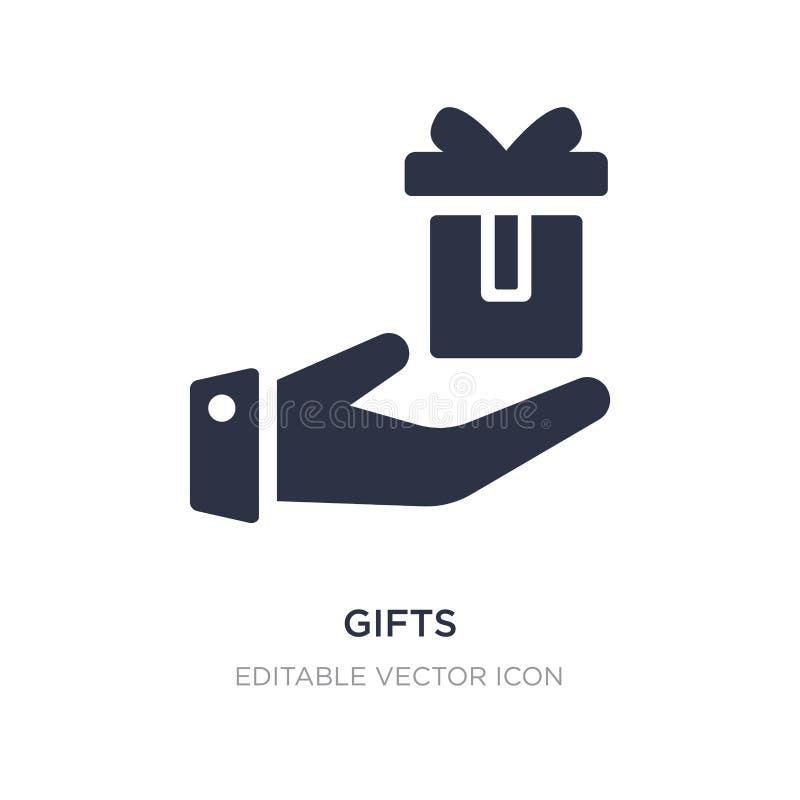 icône de cadeaux sur le fond blanc Illustration simple d'élément de notion générale illustration libre de droits