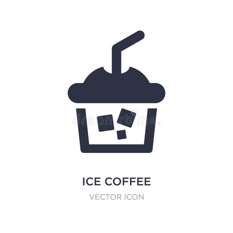 icône de café de glace sur le fond blanc Illustration simple d'élément de concept d'alcool illustration libre de droits