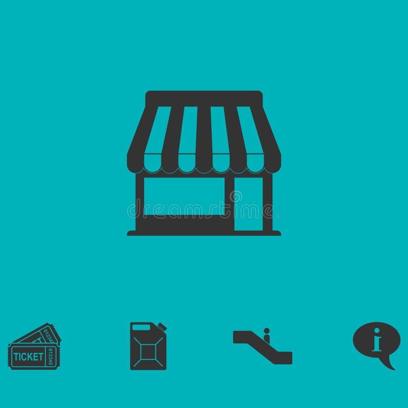 Icône de café plate illustration libre de droits