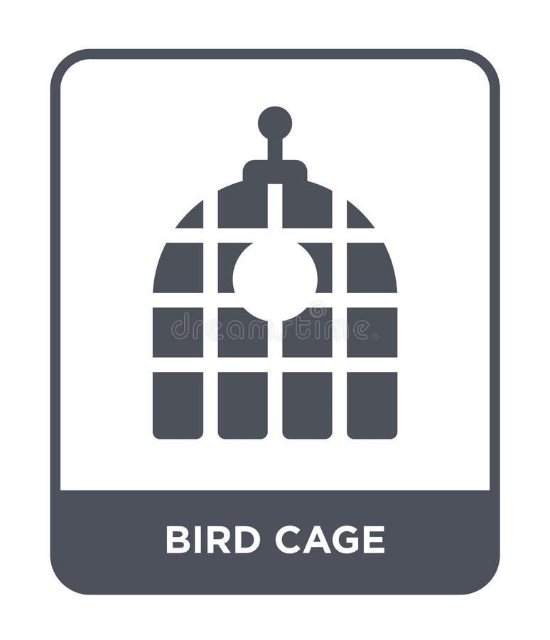 icône de cage à oiseaux dans le style à la mode de conception icône de cage à oiseaux d'isolement sur le fond blanc appartement s illustration libre de droits