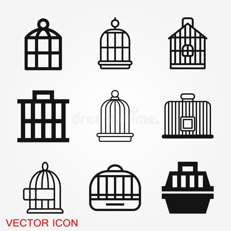 Icône de cage à oiseaux pour votre conception, logo Illustration de vecteur illustration stock