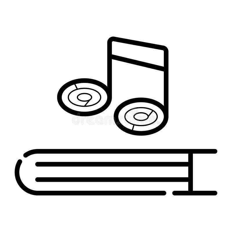 Icône de cahier de musique illustration libre de droits