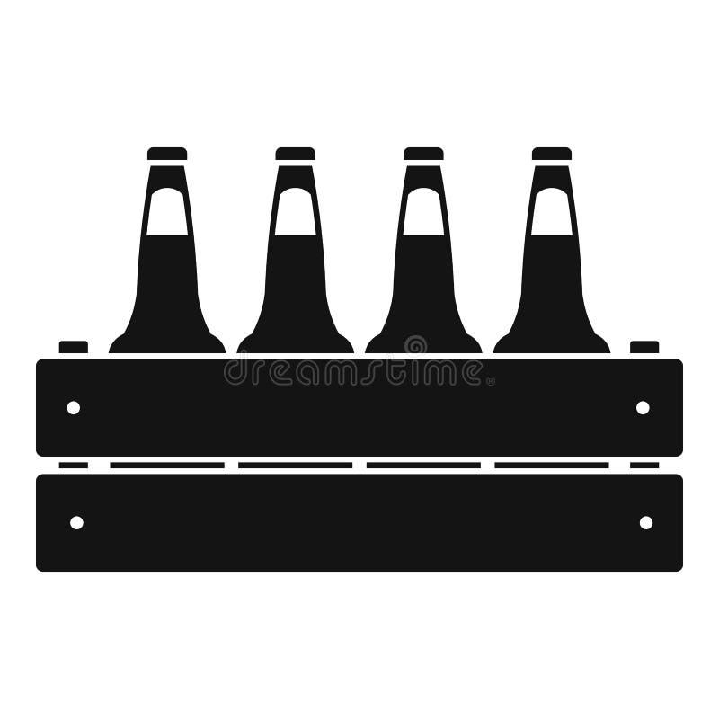 Icône de caisse de bière, style simple illustration libre de droits