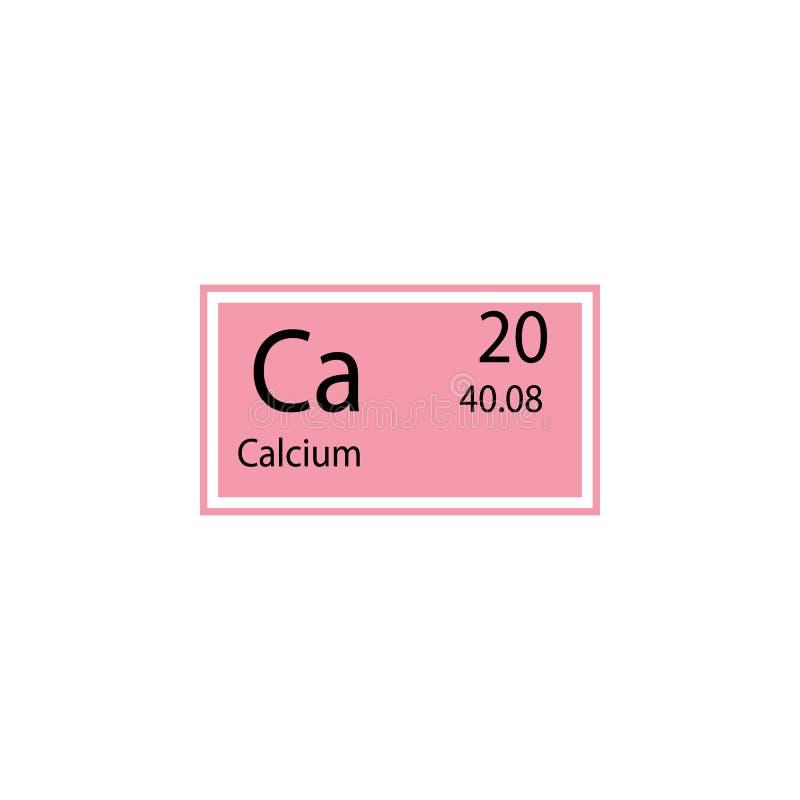 Icône de calcium d'élément de table périodique Élément d'icône chimique de signe Icône de la meilleure qualité de conception grap illustration libre de droits