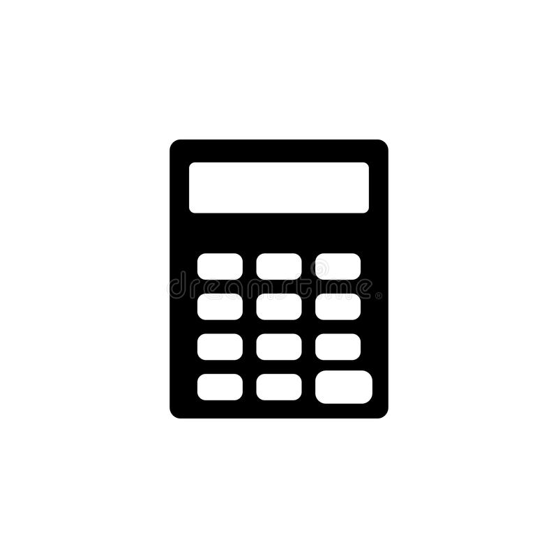 Icône de calculatrice Élément d'icône simple pour des sites Web, web design, APP mobile, graphiques d'infos Signes et icône de co illustration libre de droits